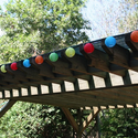 Chinese Lantern Solar String Light 20 colorful mini lanterns on a 19 foot string