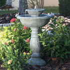 Country Gardens 2 Tier Solar On Demand Fountain with Weathered Stone Finish