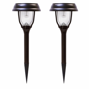 Dual Color Solar Pathway Lights - 2 Pack