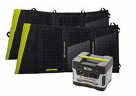 Goal Zero Yeti 400 Solar Generator Kit with Two 20 Watt Solar Panels