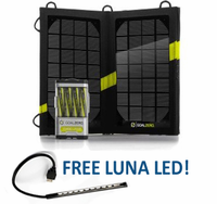 Guide 10 Plus Solar Kit - Portable Solar Charger for iPhones and USB Devices