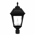 "Imperial LED Solar Lantern -  Fits Existing 3"" post/pipe - Acorn Finial"