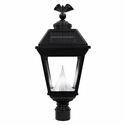 "Imperial Solar Lantern - Fits existing 3"" post/pipe - Eagle Finial"