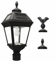 Imperial Solar Light with GS Solar Light Bulb with Eagle & Acorn Finials