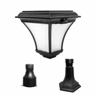 "Kona Solar Lamp with Base Mount & 3"" Pole Fitter - Warm White LEDs"