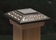 "Labyrinth Designer Post Cap Light for 4x4 Posts (Inside Dimensions measure 3-5/8"" x 3-5/8"")"