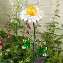 Metal Daisy Solar Stake Light for Gardens and Other Outdoor Areas