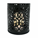 "Black Montrose Wall Sconce with 3x5"" Resin Timer Candle"