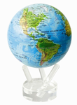 "Mova Globe Blue with Relief Map 4.5"" Rotating Globe"