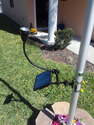 Ultra Bright Solar Flagpole Light - Adjustable Spotlight and Floodlight