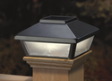 Pewter Solar Post Cap Light, Decorative Solar Light for 4x4 Posts (Inside Dimensions measure 3-5/8� x 3-5/8�)