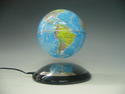"Political Light Blue 6"" Anti-Gravity Levitating Globe by LeviTECH"