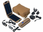 Powermonkey Extreme Tactical with Coyote Pouch - Waterproof Portable Solar Charger