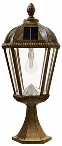 Royal Pier Mount Solar Lamp with GS-Solar LED Light Bulb