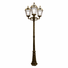Royal Solar Lamp Post 7 Foot with 3 Heads in Weathered Bronze - Gama Sonic GS-98T