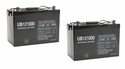 Set of 2 - 100 Ah Sealed Lead Acid Battery 12 Volts - (Total 200 Ah) - For Solar Applications