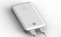 White SLPower Charger - 7000 mAh, Portable White Charger for iPhones and USB Powered Devices