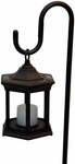 Solar Flickering Candle Lantern - Shepherd�s Hook