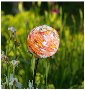 Solar Garden Art - Hand Blown Glass Solar Light - Nectar