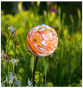 Hand-Blown Glass Solar Light - Nectar Solar Garden Art
