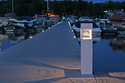 "Solar Pedestal Lite 8"" x 8"" x 36"" An Elegant Dock Lighting Solution"