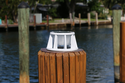 8 Inch Solar Piling Light for Salt and Fresh Water Rated Docks, Decks, Pilings, Wharfs, Bulkheads, Boardwalks and Marinas