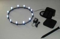 Solar Plant Light Ring with 8 White LED Lights