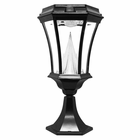 Solar Post Light - Base Mount Black Finish