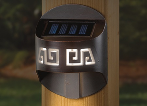 Solar Post Light - Side Mount - Labyrinth Design Solar Accent Light for 4x4 Posts