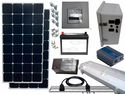 Solar Power & Lighting Kit for Sheds, Garages & Remote Cabins - 140 Amps