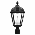 "Solar Powered Outdoor Lamp Post Light - Fits Existing 3"" Post"