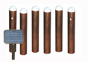 Solar Sentinella Bollard Pathway Lights (set of 6)