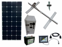 Solar Sign & Landscape Light Kit - 1 Light (800 Lumens), 100W Solar Panel, 55 Ah Battery