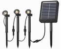 Solar Spotlight 3 Light String - 3 LED Spotlights with 13 Lumens of Brightness