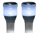 Square 2pk Solar Dock Lites Fresh Water Rated Solar Light for Docks, Decks, Boardwalks and Marinas