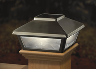 "Stainless Steel-Plated Solar Post Cap Light, Decorative Solar Light for 4x4 Posts (Inside Dimensions measure 3-5/8"" x 3-5/8"")"