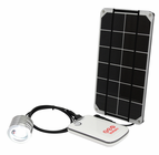 Voltaic DIY Solar Cell Phone Charger Kit and Light Kit - 3.5 Watt Solar Panel, USB Battery, LED Touch Light