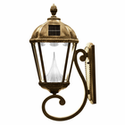 Wall Mounted Solar Light in Weathered Bronze