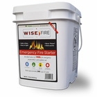 Wise Fire - Instant Fire Wood Pellets for Emergency Preparedness Kits - 4 Gallons