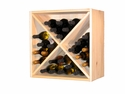 24 Bottle Wine Cube w/solid Pine Planking