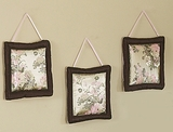 Abby Rose Asian 3 Piece Wall Hangings by Sweet Jojo Designs