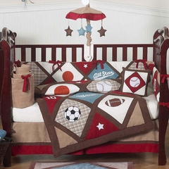 All Star Sports Boys Baby Bedding 9 Pc Crib Set - Sweet Jojo Designs