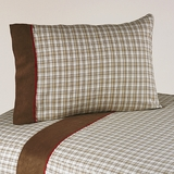 All Star Sports Plaid 3 Piece Twin Sheet Set