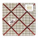 All Star Sports Plaid Fabric Memo Board