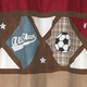 All Star Sports Shower Curtain by Sweet Jojo Designs