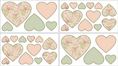 Annabel Rose Shabby Chic Wall Decals by Sweet Jojo Designs