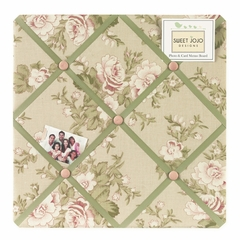 Annabel Shabby Chic Rose Fabric Memo Board