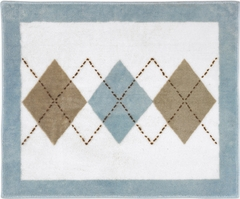 Argyle Blue Accent Floor Rug by Sweet Jojo Designs