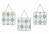 Argyle Green 3 Piece Wall Hangings by Sweet Jojo Designs