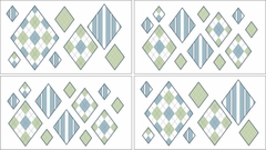 Argyle Green and Blue Wall Decals by Sweet Jojo Designs